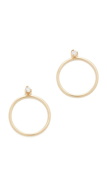 Zoe Chicco 14k Gold Paris Hoop Earrings