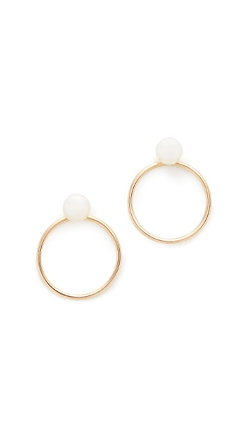 Zoe Chicco Freshwater Cultured Pearl Hoop Earrings