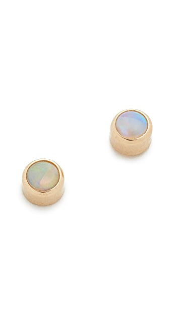 Zoe Chicco 14k Gold Opal Gemstones Stud Earrings