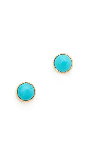 Zoe Chicco 14k Gold Turquoise Gemstones Stud Earrings