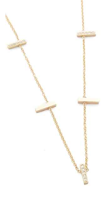 Zoe Chicco Bars & Curves Short Station Necklace