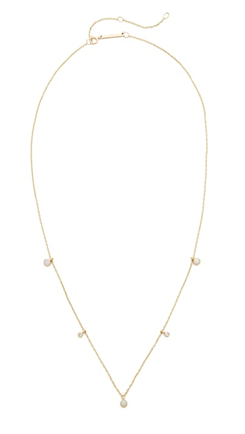 Zoe Chicco 14k Gold Opal Gemstones Short Station Necklace