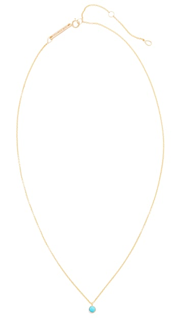 Zoe Chicco 14k Gold Turquoise Gemstone Short Necklace