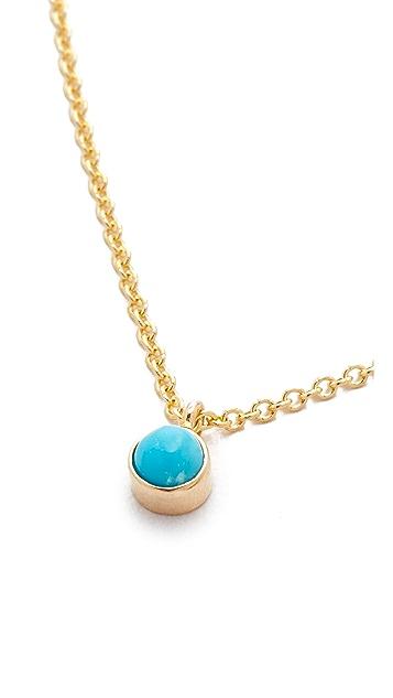 Zoe Chicco 14k Gold Turquoise Gemstone Short Necklace