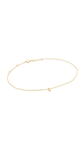 Zoe Chicco 14k Gold Dangling Diamonds Anklet
