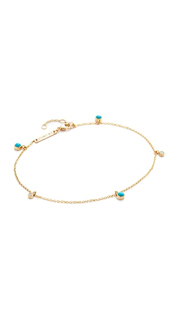 Zoe Chicco Turquoise Gemstone Anklet
