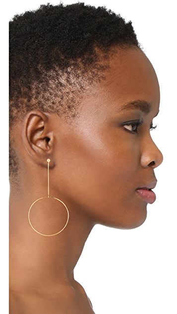 Zoe Chicco Large Drop Circle Earrings