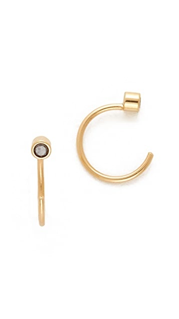 Zoe Chicco Diamond Reversible Open Hoop Earrings