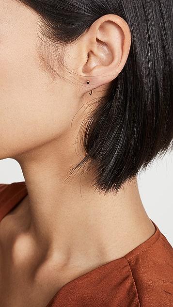 Zoe Chicco 钻石双面镂空环圈耳环