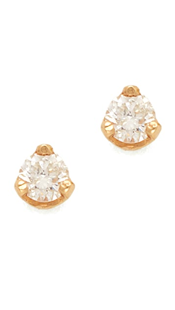 Zoe Chicco Diamond Prong Stud Earrings