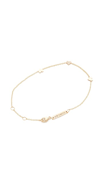 Zoe Chicco 14k Gold Heart Chain Bracelet