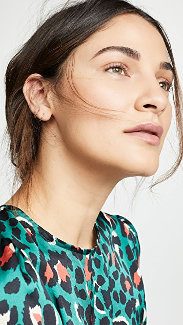 Zoe Chicco 14K 金双贴耳耳环