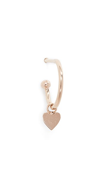 Zoe Chicco 14k Gold Heart Huggie Hoop Earring