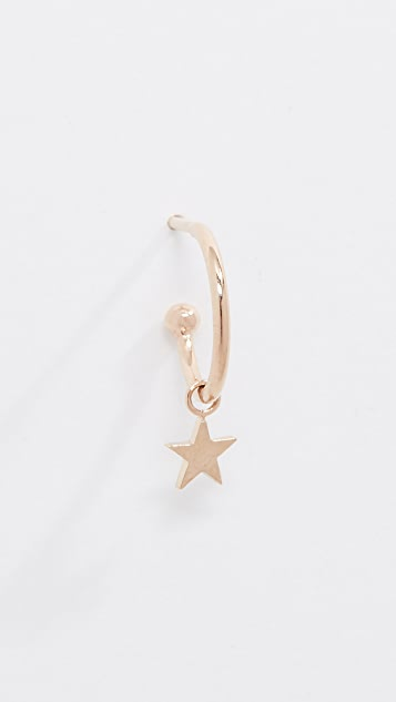 Zoe Chicco 14k Gold Star Huggie Hoop Earring