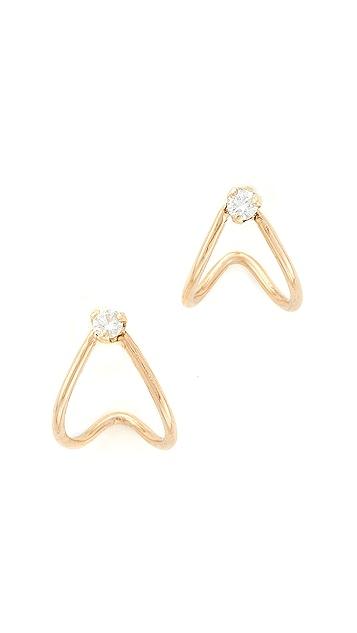 Zoe Chicco 14k Gold Huggie Diamond Hoop Earrings - Yellow Gold