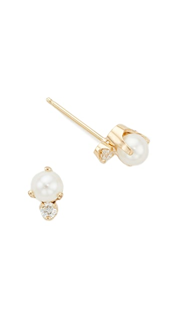 Zoe Chicco 14k Gold Diamond Stud Earrings