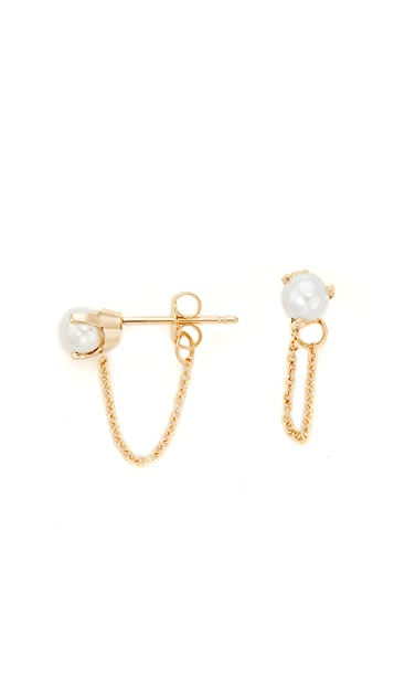 Zoe Chicco 14k Gold Prong Earrings with Freshwater Cultured Pearls