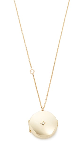 Zoe chicco 14k gold diamond locket necklace shopbop zoe chicco 14k gold diamond locket necklace mozeypictures Gallery