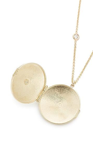 Zoe Chicco 14k Gold Diamond Locket Necklace
