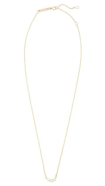 Zoe Chicco 14k Gold Diamond Bezel Necklace