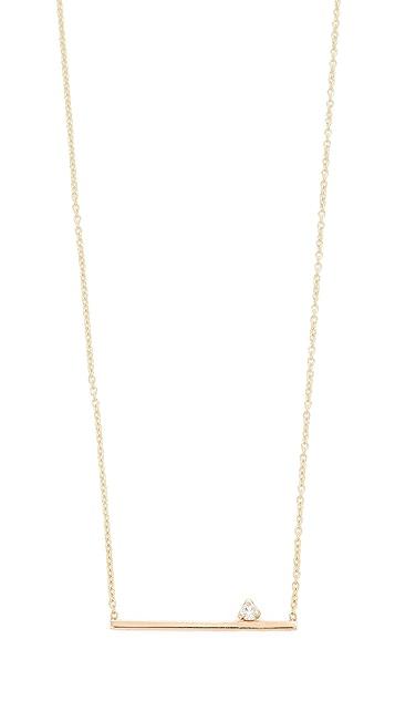 Zoe Chicco 14k Gold Thin Bar Diamond Necklace - Gold