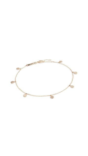Zoe Chicco 14k Gold Round Disc Charm Anklet