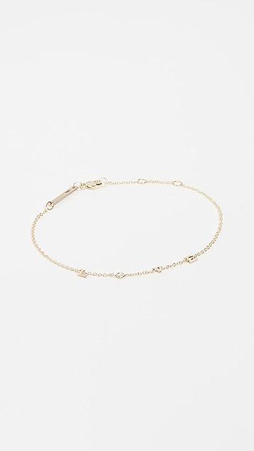 Zoe Chicco 14k Gold & Diamond Love Bracelet