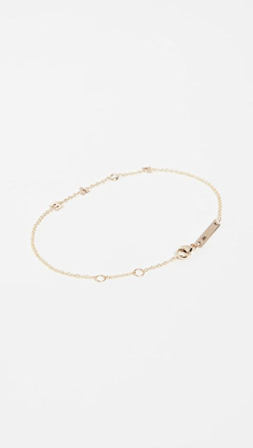 Zoe Chicco 14k Gold & Diamond Love Bracelet 3CLxYc2Y