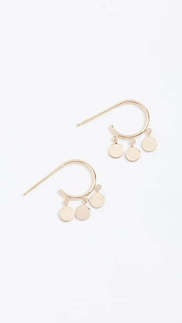 Zoe Chicco 14k Gold Hoops with Discs