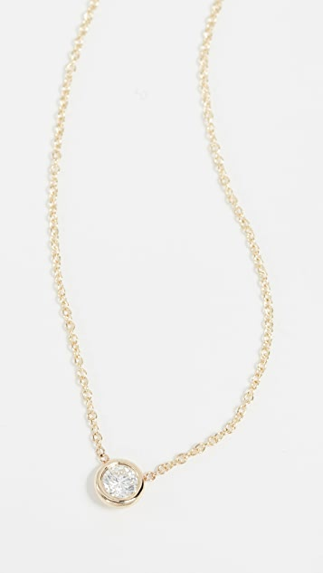 Zoe Chicco 14k Gold Necklace with 20PT White Diamond