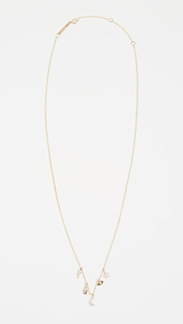 Zoe Chicco 14k Gold Charm Necklace