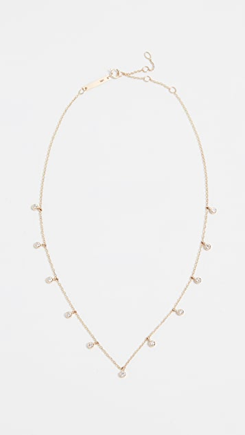 Zoe Chicco 14k Gold Diamond Charms Necklace