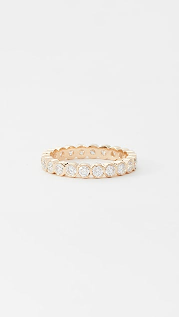Zoe Chicco 14K Gold Eternity Ring with Round White Diamond
