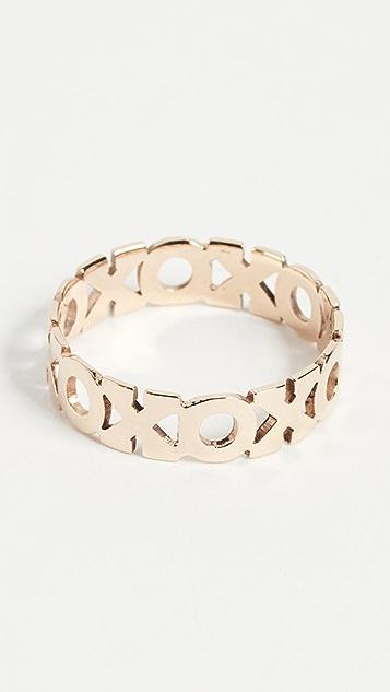 Zoe Chicco 14k Gold XO Eternity Ring