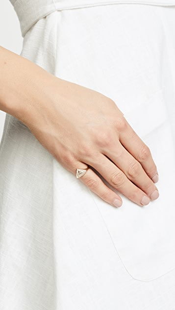 Zoe Chicco 14k Gold Trillion Signet Pinky Ring