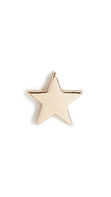 Zoe Chicco Серьга-гвоздик Itty Bity в форме звезды из 14-каратного золота