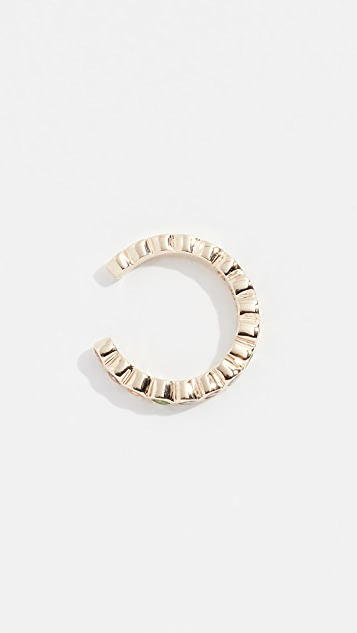 Zoe Chicco 14k Small Bezel Rainbow Ear Cuff