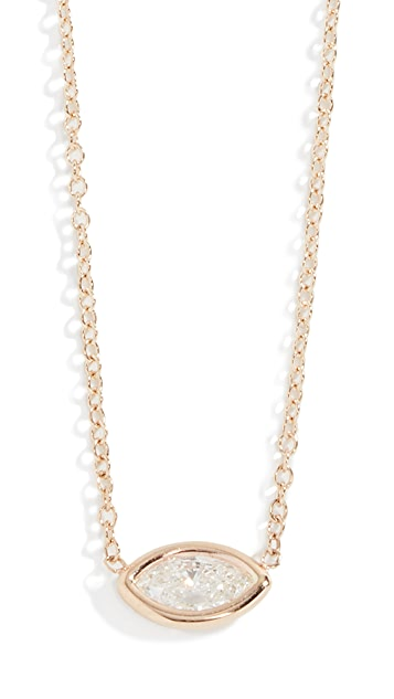 Zoe Chicco 14k Floating Marquis Necklace