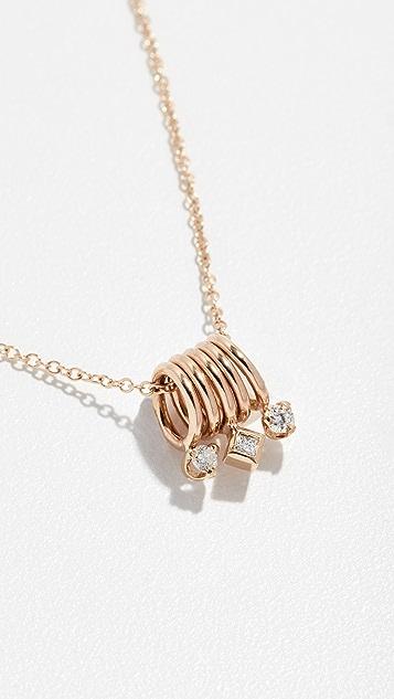 Zoe Chicco 14k Tiny Ring Set Necklace