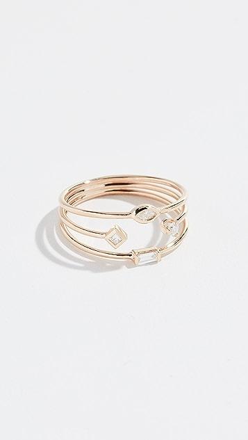 Zoe Chicco 14k Thin Band Mixed Ring