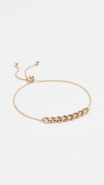 Zoe Chicco 14k Gold Curb Chain Station Bracelet