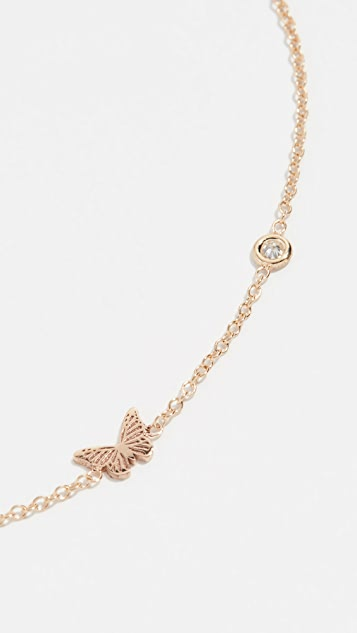 Zoe Chicco 14k Gold Itty Bitty Butterfly Bracelet