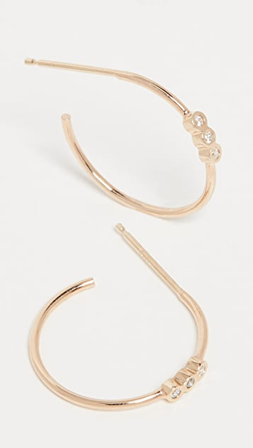 Zoe Chicco 14k Gold Small Hoops - Yellow Gold