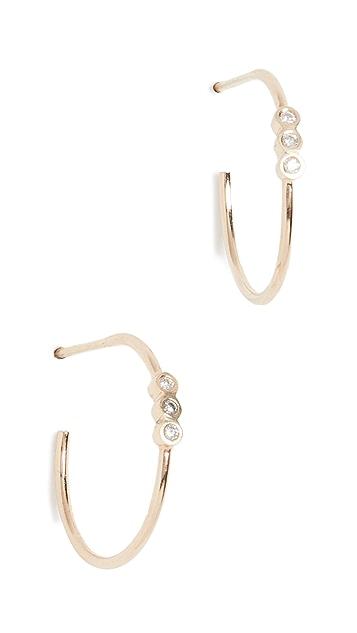 Zoe Chicco Маленькие серьги-кольца, золото 14карат