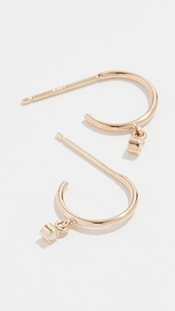 Zoe Chicco 14k Gold Tiny Huggie Hoop Earrings