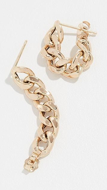 Zoe Chicco Серьги-кольца из цепочек из 14-каратного золота
