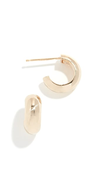 Zoe Chicco 14k Gold Huggie Hoop Earrings