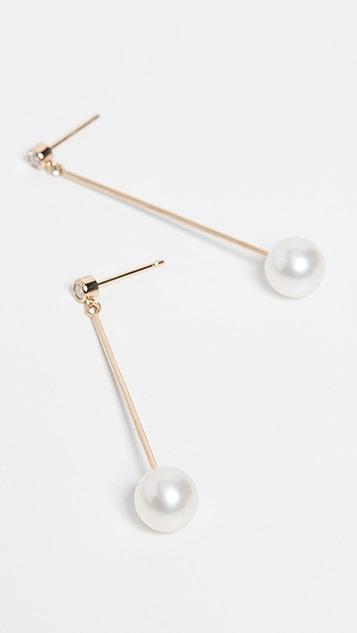 Zoe Chicco 14K 金条形钻石可移动耳钉