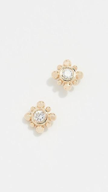 Zoe Chicco 14k Gold Starburst Stud Earrings