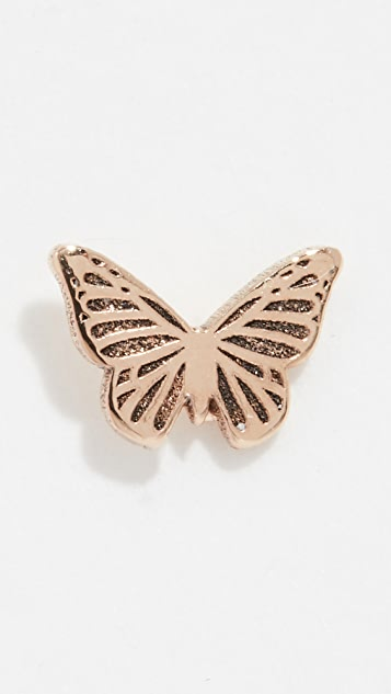 Zoe Chicco 14k Gold Itty Bitty Butterfly Single Stud Earring